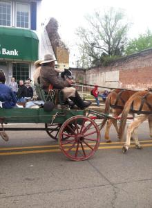 One of the wagons during the parade